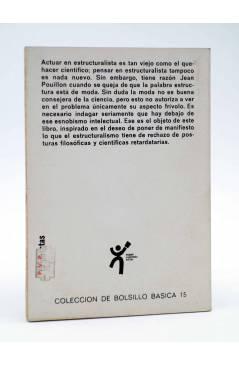 Contracubierta de BÁSICA 15 34. ESTRUCTURA Y DIALÉCTICA (Moisés García) Castellote 1972