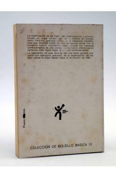 Contracubierta de BÁSICA 15 40-42. LAS LUCHAS SOCIALES EN LOS GREMIOS (Jean Jacques) Castellote 1972