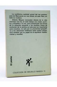 Contracubierta de BÁSICA 15 74-77. MARRUECOS EN LA ENCRUCIJADA (Alberto Míguez) Castellote 1973