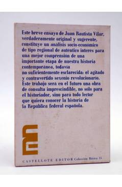 Contracubierta de BASES SOCIALES Y ECONÓMICAS DEL CANTÓN MURCIANO (J Bautista Vilar) Castellote 1976