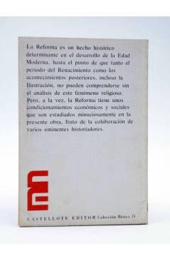 Contracubierta de BÁSICA 15 360-361. INTRODUCCIÓN A LA HISTORIA SOCIAL DE LA REFORMA (Stern / Mury / Bensing) Castellote
