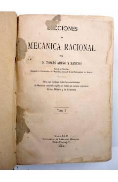 Muestra 1 de LECCIONES DE MECÁNICA RACIONAL. DOS TOMOS EN UN VOL (Tomás Ariño Y Sancho) Gregorio Estrada 1880