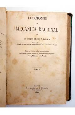 Muestra 2 de LECCIONES DE MECÁNICA RACIONAL. DOS TOMOS EN UN VOL (Tomás Ariño Y Sancho) Gregorio Estrada 1880