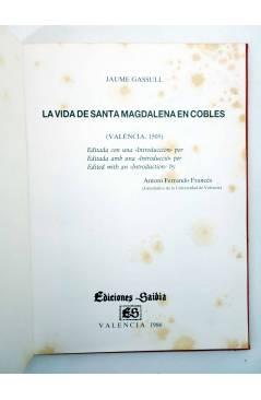Muestra 2 de LA VIDA DE UNA SANTA MAGDALENA EN COBBLES. ESTUCHE. EJEMPLAR 66/500 (Jaume Gassull) Saidia 1987