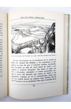 Muestra 2 de COLECCIÓN LA VUELTA AL MUNDO 6. CON LOS INDIOS AMERICANOS (J. Gabarras) Dalmau Carles Pla 1964