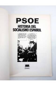 Muestra 1 de PSOE HISTORIA DEL SOCIALISMO ESPAÑOL EN COMIC (Cabezas / Muelas / Berrocal) Comic MAM 1982