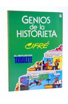 Cubierta de GENIOS DE LA HISTORIETA 3. EL REPORTER TRIBULETE (Cifré) Bruguera 1985