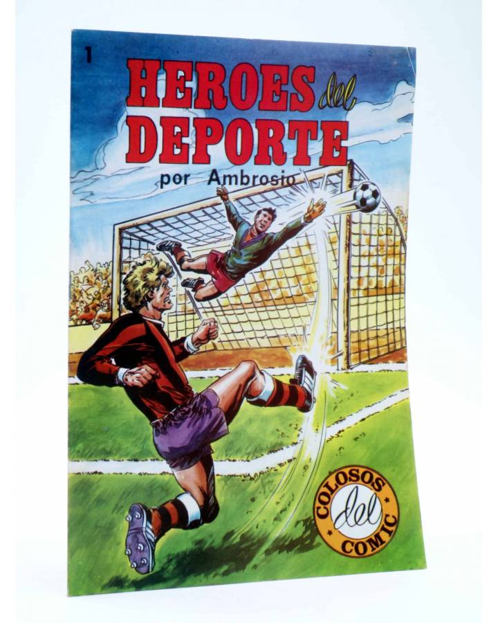 Cubierta de COLOSOS DEL COMIC 247. HÉROES DEL DEPORTE 1 (Ambrosio - Ambrós) Valenciana 1983