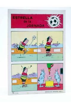 Contracubierta de COLOSOS DEL COMIC 247. HÉROES DEL DEPORTE 1 (Ambrosio - Ambrós) Valenciana 1983