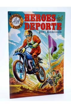 Cubierta de COLOSOS DEL COMIC. HÉROES DEL DEPORTE 4 (Ambrosio - Ambrós) Valenciana 1984