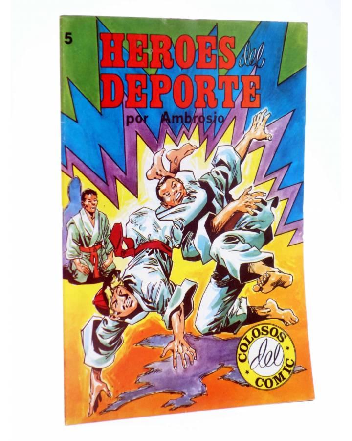 Cubierta de COLOSOS DEL COMIC. HÉROES DEL DEPORTE 5 (Ambrosio - Ambrós) Valenciana 1984