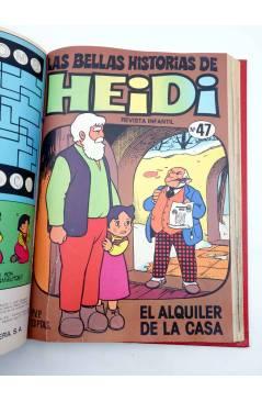 Contracubierta de LAS BELLAS HISTORIAS DE HEIDI 1 A 62 (SALVO 58). EN UN TOMO (Jan Y Otros) Bruguera 1975