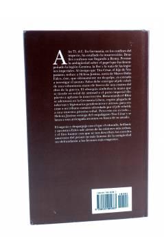 Contracubierta de MARCO DIDIO FALCO 4. LA MANO DE HIERRO DE MARTE (Lindsey Davis) Edhasa 2002