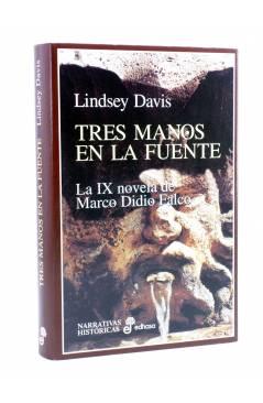 Cubierta de MARCO DIDIO FALCO 9. TRES MANOS EN LA FUENTE (Lindsey Davis) Edhasa 1998