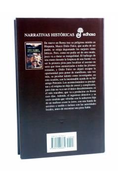 Contracubierta de MARCO DIDIO FALCO 9. TRES MANOS EN LA FUENTE (Lindsey Davis) Edhasa 1998