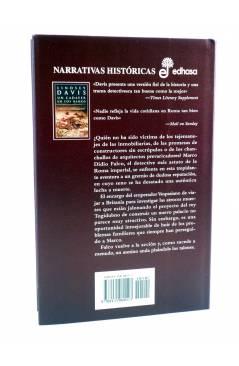 Contracubierta de MARCO DIDIO FALCO 13. UN CADÁVER EN LOS BAÑOS (Lindsey Davis) Edhasa 2002