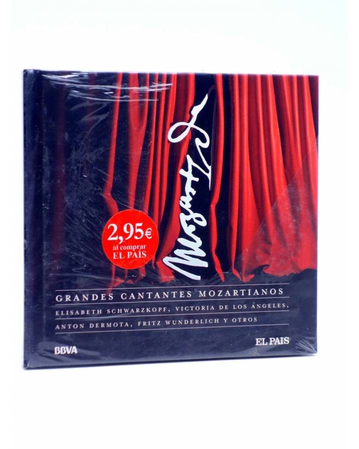 Cubierta de CD LIBRO MOZART 250 ANIVERSARIO 24. GRANDES CANTANTES MOZARTIANOS (Mozart) El País 2006