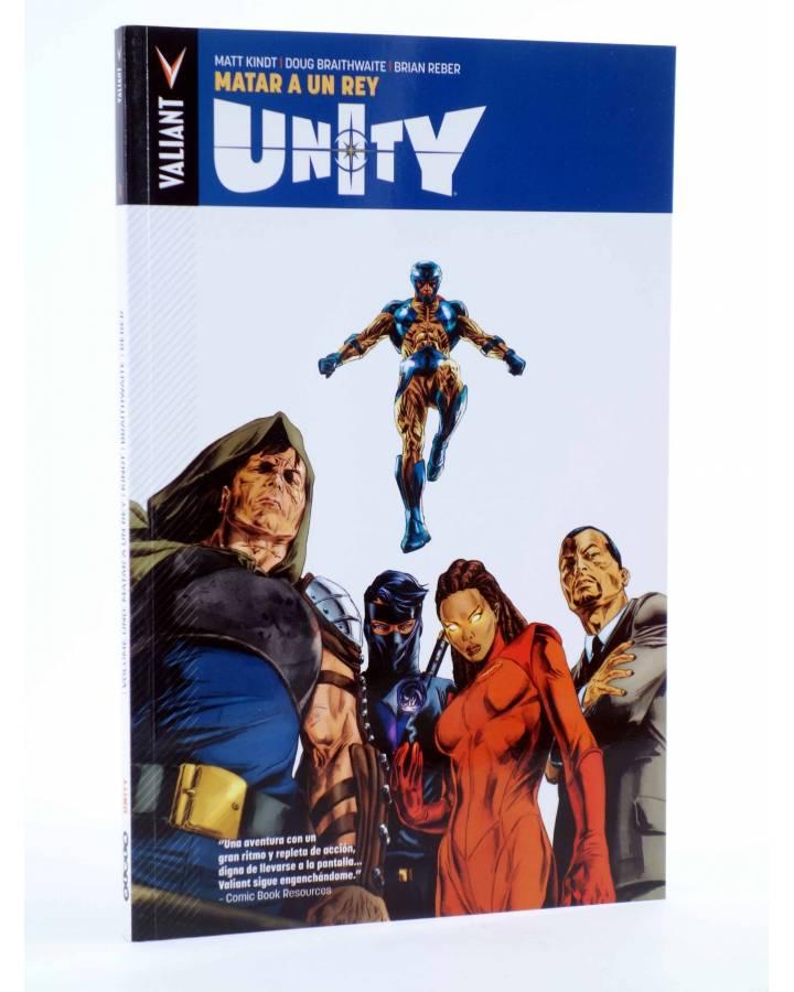 Cubierta de UNITY VOLUMEN 1. MATAR A UN REY (Kindt / Braithwaite / Reber) Aleta 2015