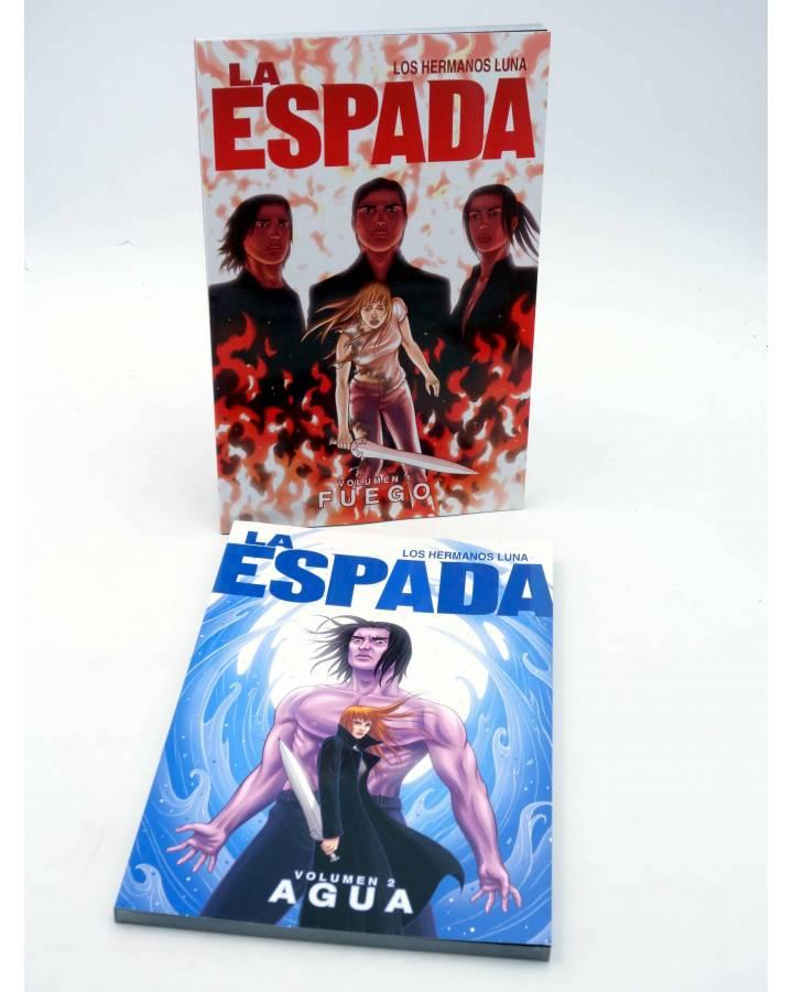 Cubierta de LA ESPADA VOLS. 1 Y 2. FUEGO / AGUA (Los Hermanos Luna) Aleta 2013