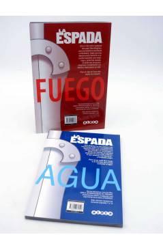 Contracubierta de LA ESPADA VOLS. 1 Y 2. FUEGO / AGUA (Los Hermanos Luna) Aleta 2013