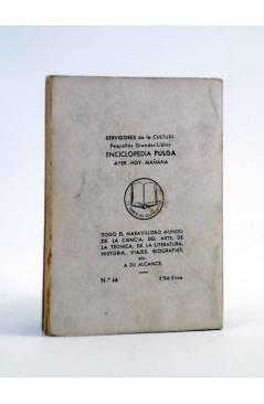 Contracubierta de ENCICLOPEDIA PULGA 16. EL ANILLO DE LOS NIBELUNGOS (Santos Bosch) G.P. Circa 1950