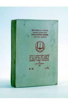 Contracubierta de ENCICLOPEDIA PULGA 20. EL PRISIONERO DE ZENDA (Antony Hope) G.P. Circa 1950