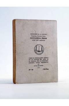 Contracubierta de ENCICLOPEDIA PULGA 22. CLEOPATRA (Enrique Cuenca) G.P. Circa 1950