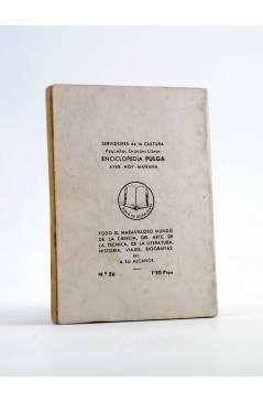 Contracubierta de ENCICLOPEDIA PULGA 26. RASPUTÍN (Santos Bosch) G.P. Circa 1950
