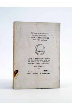 Contracubierta de ENCICLOPEDIA PULGA 64. EL NUEVO VIEJO (Guillermo Fdez Shaw) G.P. Circa 1950