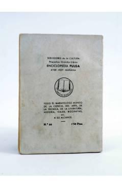 Contracubierta de ENCICLOPEDIA PULGA 66. BENAVENTE (Ángel Zuñiga) G.P. Circa 1950