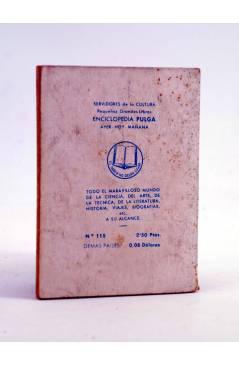 Contracubierta de ENCICLOPEDIA PULGA 115. LA HORA AZUL (Dario Fernández Flórez) G.P. Circa 1950
