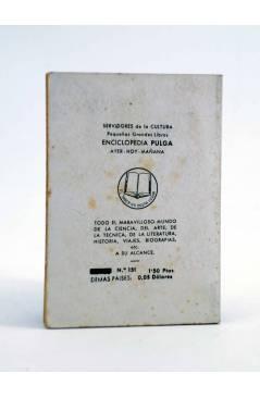Contracubierta de ENCICLOPEDIA PULGA 131. LA GRAN CARA DE PIEDRA (Nathaniel Hawthorne) G.P. Circa 1950