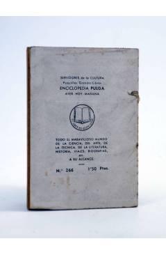 Contracubierta de ENCICLOPEDIA PULGA 266. OZANAM (Jesús Quibus) G.P. Circa 1950