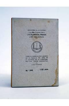 Contracubierta de ENCICLOPEDIA PULGA 346. ESCULTORES DE CAMINOS (Abel Esquiroz) G.P. Circa 1950