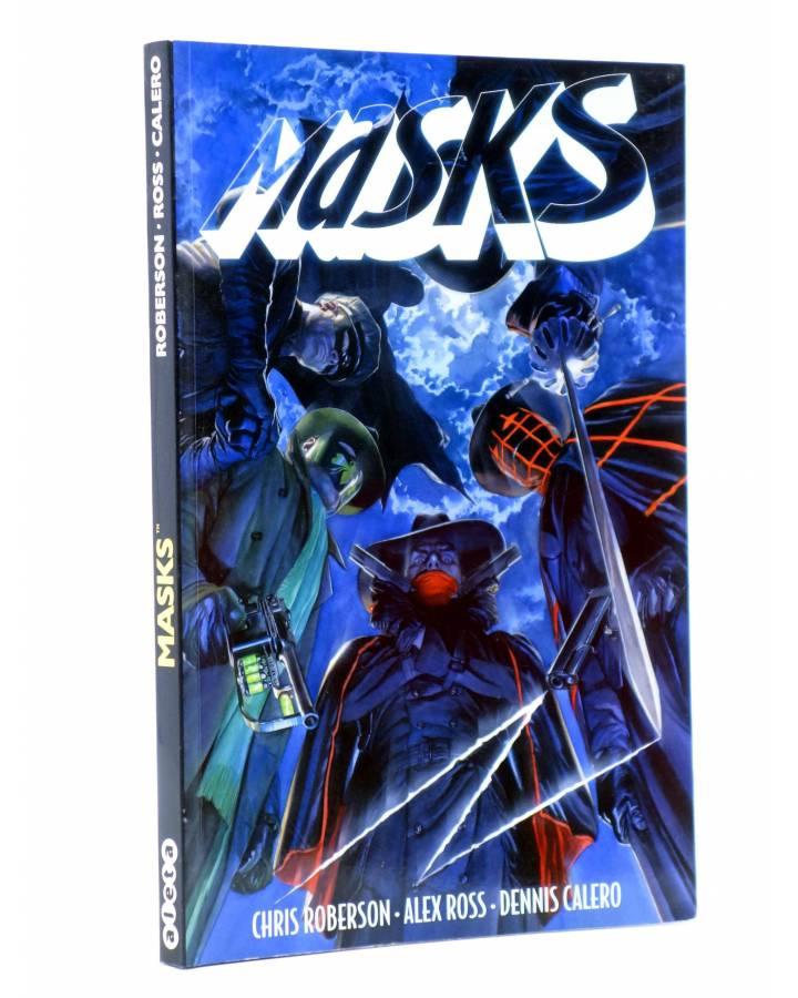 Cubierta de MASKS (Chris Roberson / Alex Ross / Dennis Calero) Aleta 2015