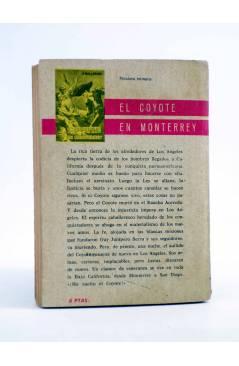 Contracubierta de EL COYOTE 2. LA VUELTA DEL COYOTE (José Mallorquí) Cid 1961