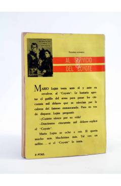 Contracubierta de EL COYOTE 25. LOS JARRONES DEL VIRREY (José Mallorquí) Cid 1961