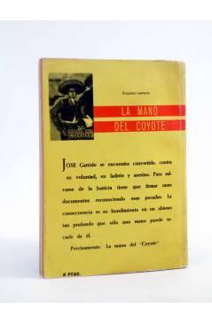 Contracubierta de EL COYOTE 26. AL SERVICIO DEL COYOTE (José Mallorquí) Cid 1961