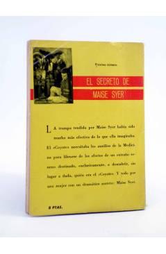 Contracubierta de EL COYOTE 29. TODA UNA SEÑORA (José Mallorquí) Cid 1961
