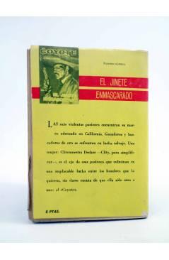 Contracubierta de EL COYOTE 35. CUANDO EL COYOTE CASTIGA (José Mallorquí) Cid 1961