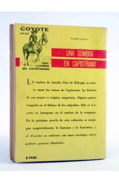 Contracubierta de EL COYOTE 36. EL JINETE ENMASCARADO (José Mallorquí) Cid 1961