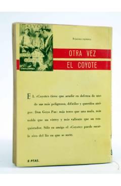 Contracubierta de EL COYOTE 37. UNA SOMBRA EN PAPISTRANO (José Mallorquí) Cid 1961