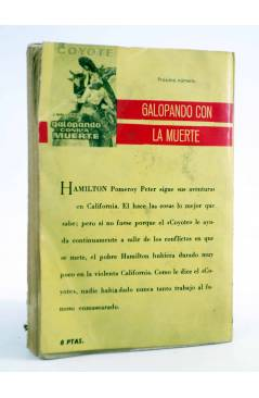 Contracubierta de EL COYOTE 40. MENSAJERO DE PAZ (José Mallorquí) Cid 1961