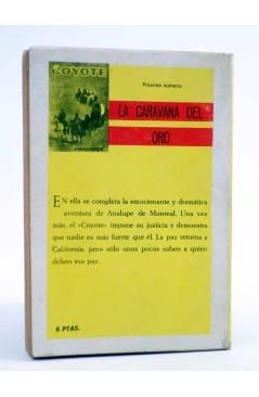 Contracubierta de EL COYOTE 71. ANALUPE DE MONREAL (José Mallorquí) Cid 1962