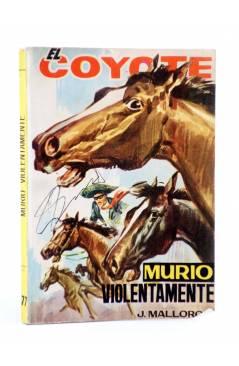 Cubierta de EL COYOTE 77. MURIÓ VIOLENTAMENTE (José Mallorquí) Cid 1964