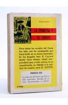 Contracubierta de EL COYOTE 77. MURIÓ VIOLENTAMENTE (José Mallorquí) Cid 1964