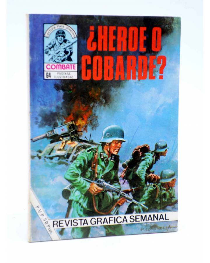 Cubierta de COMBATE 237. ¿HÉROE O COBARDE?. Producciones Editoriales 1981