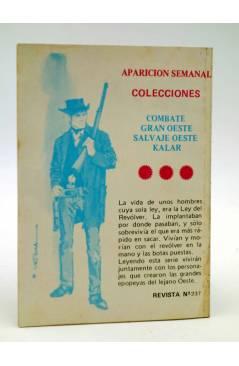 Contracubierta de COMBATE 237. ¿HÉROE O COBARDE?. Producciones Editoriales 1981
