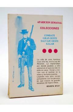 Contracubierta de COMBATE 241. LAS RATAS DEL DESIERTO. Producciones Editoriales 1981