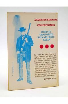 Contracubierta de COMBATE 242. NOCHE TRÁGICA. Producciones Editoriales 1981